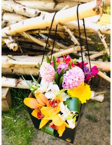 Poseta cu flori de primavara